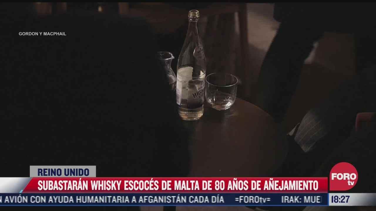 subastaran whisky escoces de malta de 80 anos de anejamiento