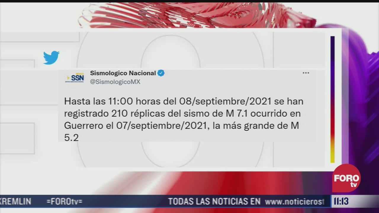 suman 210 replicas por el sismo magnitud 7 1 en acapulco