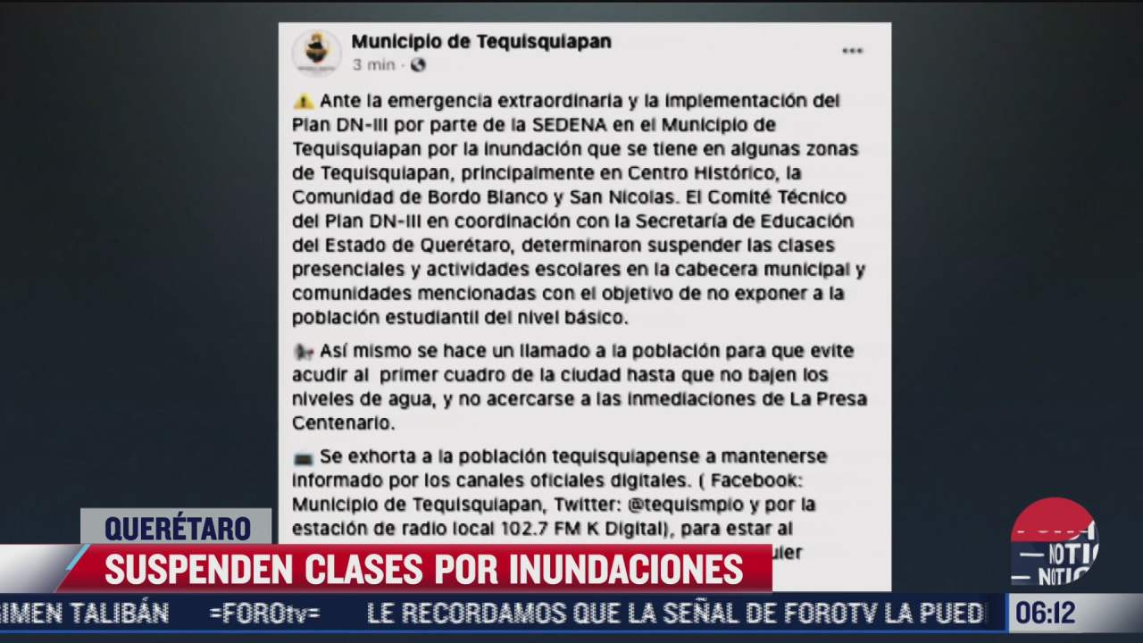 suspenden clases en tequisquiapan queretaro por inundaciones