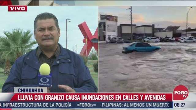 tormenta con granizo causa severas inundaciones en chihuahua