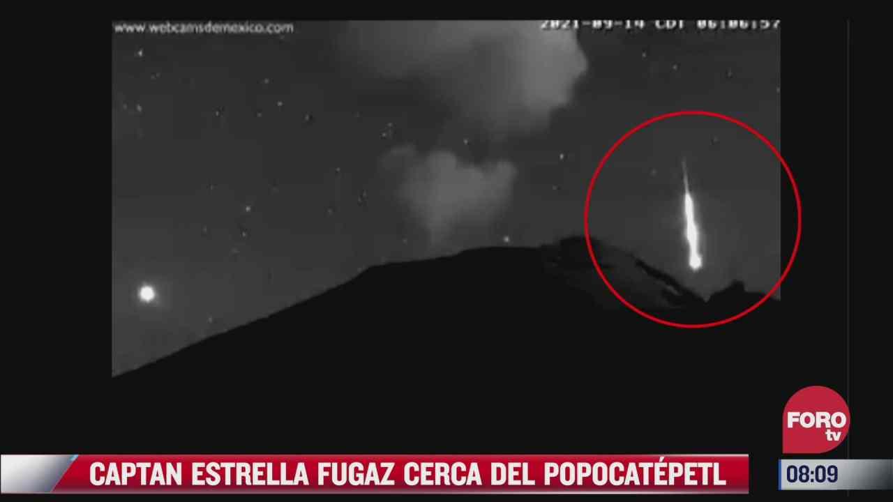 video captan caida de estrella fugaz cerca del volcan popocatepetl