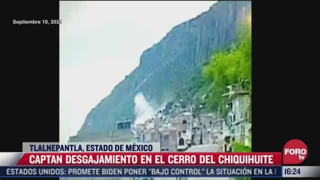 video captan momento exacto del desgajamiento en el cerro del chiquihuite
