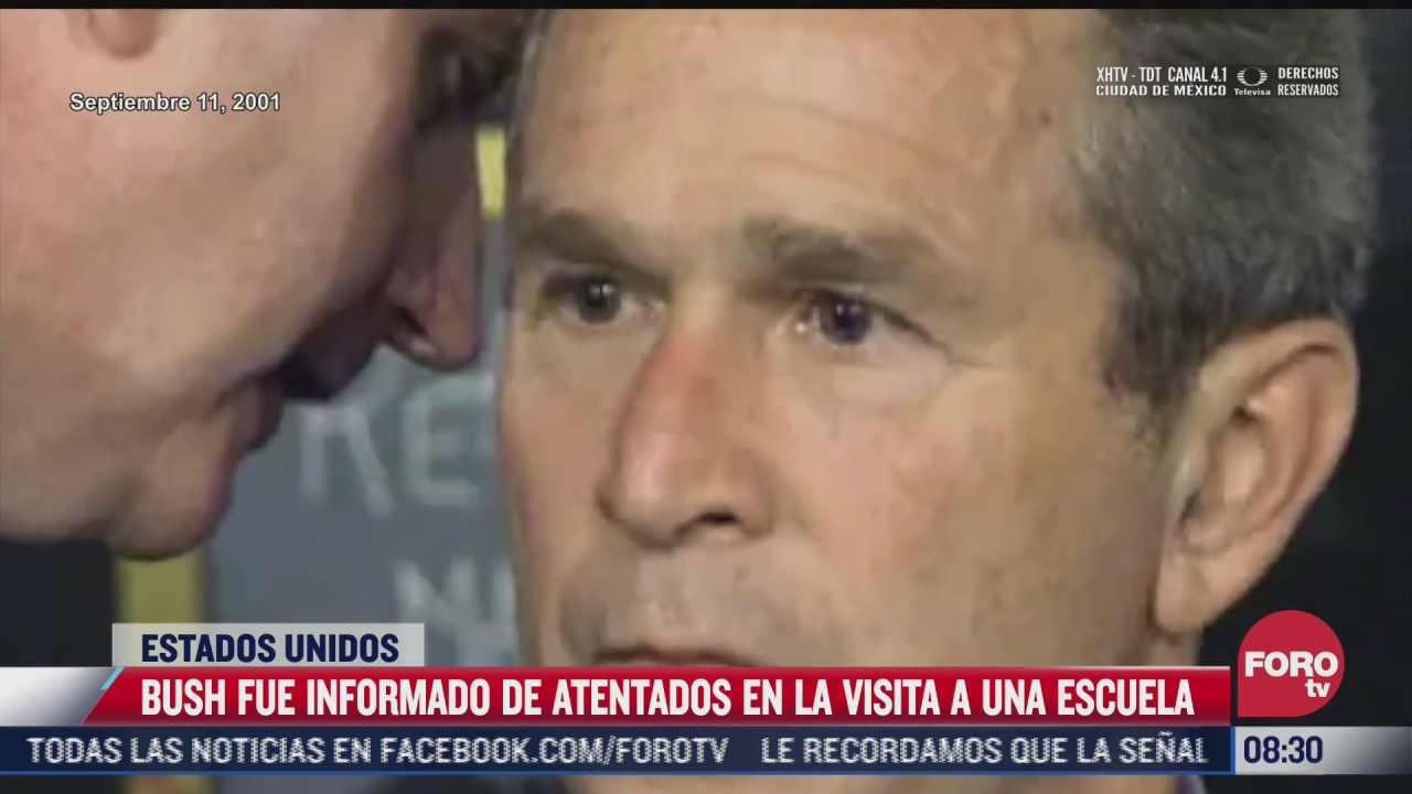 video momento en el que george bush es informado de los atentados del 11 s