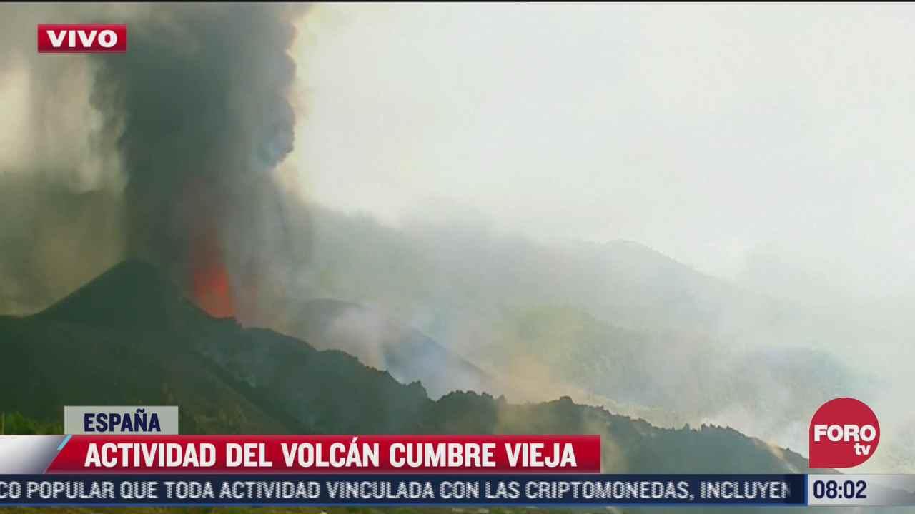 volcan cumbre vieja en la isla la palma mantiene intensa actividad