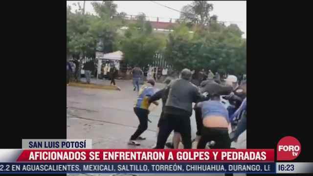 aficionados del america y el san luis pelean en inmediaciones del estadio alfonso lastras