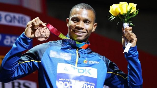 Fotografía del velocista olímpico Alex Quiñónez