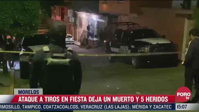ataque a fiesta deja un muerto y cinco heridos en morelos