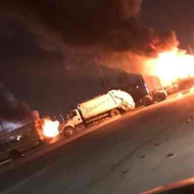 Autoridades controlan bloqueos en Matamoros; reportan personas detenidas y algunos heridos