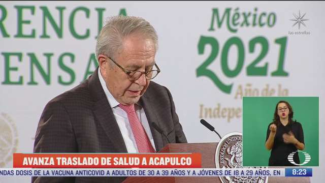 avanza traslado de la secretaria de salud al puerto de acapulco confirma alcocer