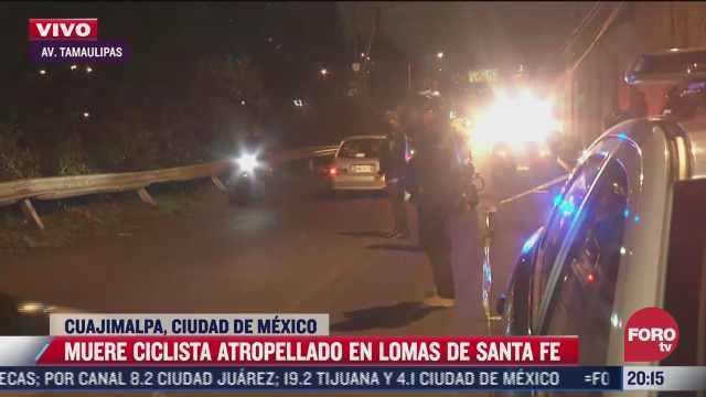 ciclista muere en avenida tamaulipas de la alcaldia cuajimalpa