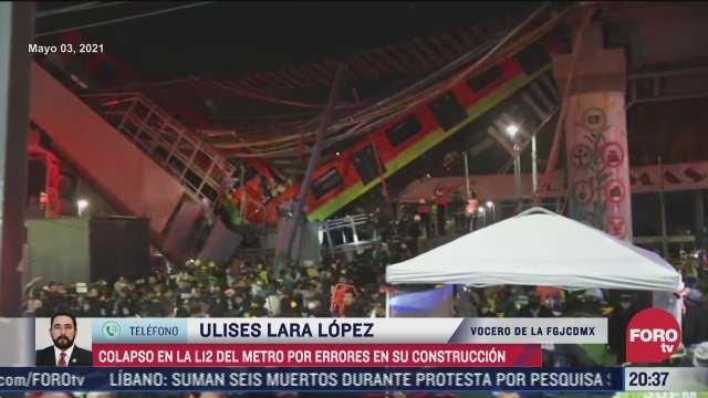 colapso en l12 del metro fue por errores en construccion