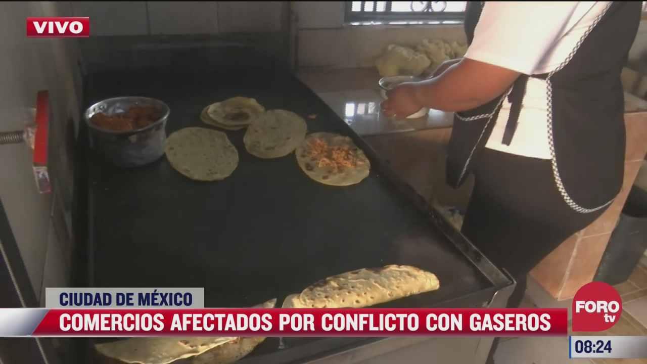 comercios afectados por paro de gaseros en la cdmx
