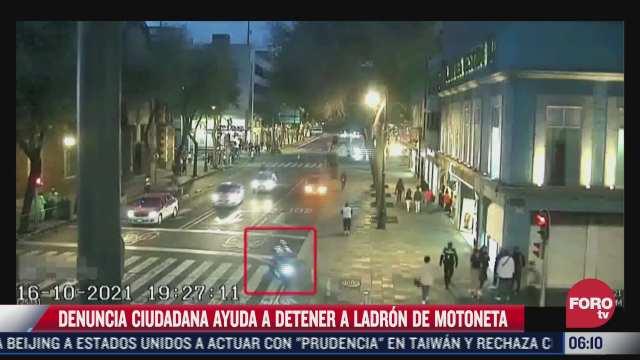 denuncia ciudadana ayuda a detener a ladron de motoneta en cdmx