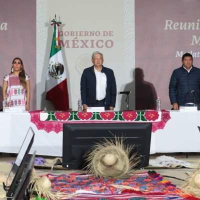 Desde la Montaña de Guerrero AMLO asegura se intensificarán programas del Bienestar en los municipios más pobres