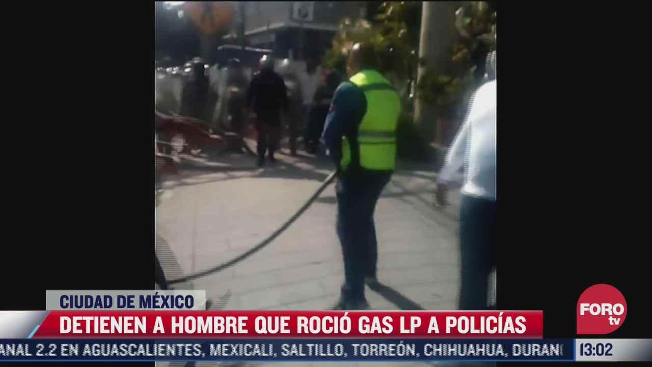 detenido por arrojar gas a policias durante manifestaciones en cdmx