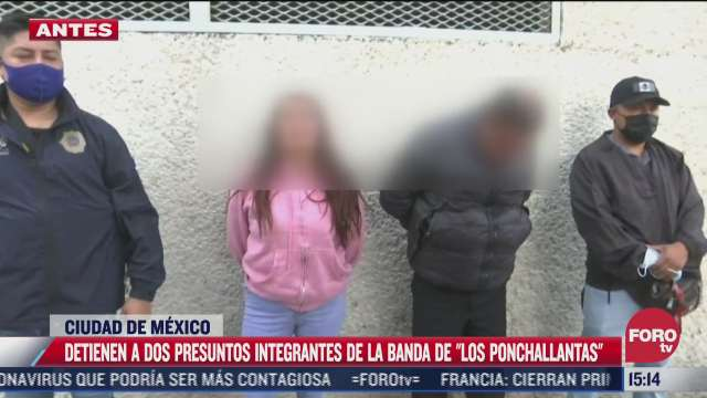 detienen a dos presuntos integrantes de la banda los ponchallantas