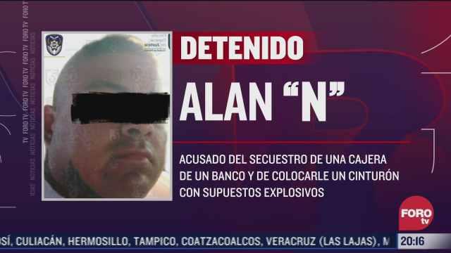 detienen a secuestrador que puso cinturon explosivo a cajera en la cdmx