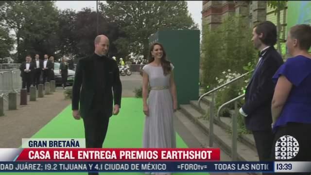 duques de cambridge acuden a entrega de premios earth shot contra el cambio climatico
