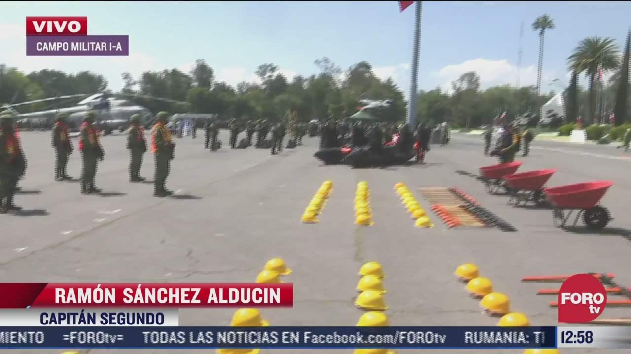 ejercito mexicano realiza labores de entrenamiento ante desastres