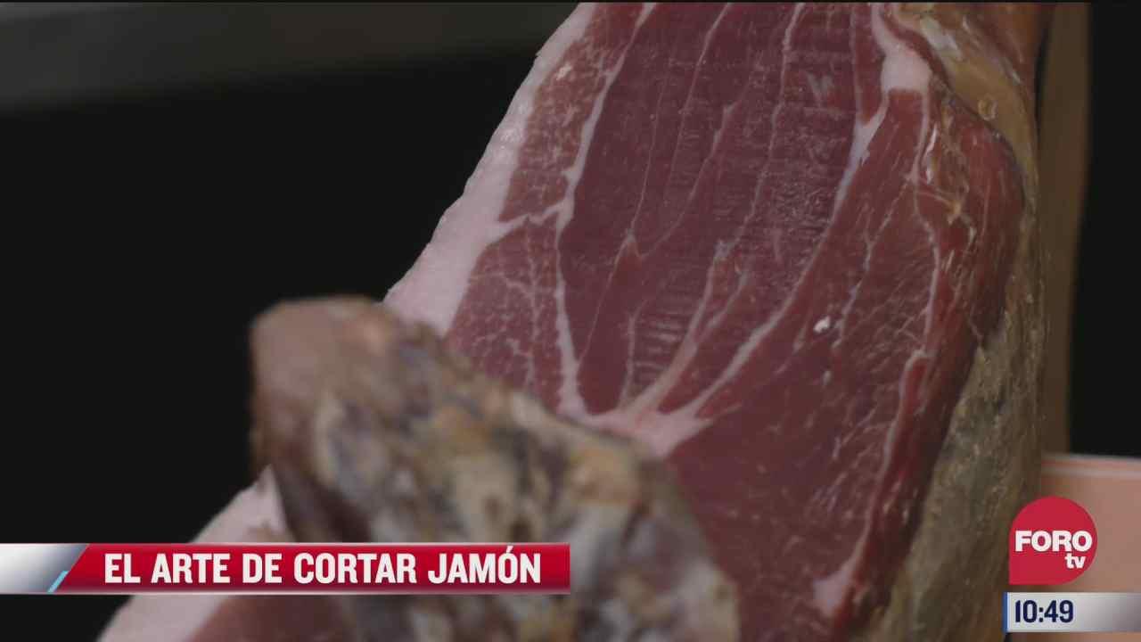 el arte de cortar jamon