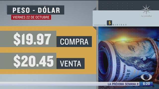 el dolar se vendio en 20 45 en la cdmx del 22 oct