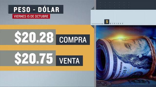el dolar se vendio en 20 75 en la cdmx