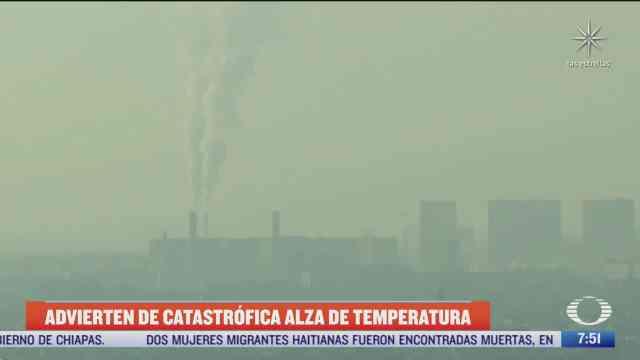 el mundo sigue actuando mal frente al cambio climatico dice la onu