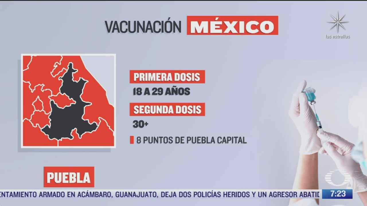 en que estados inicia la vacunacion covid hoy 11 de octubre de