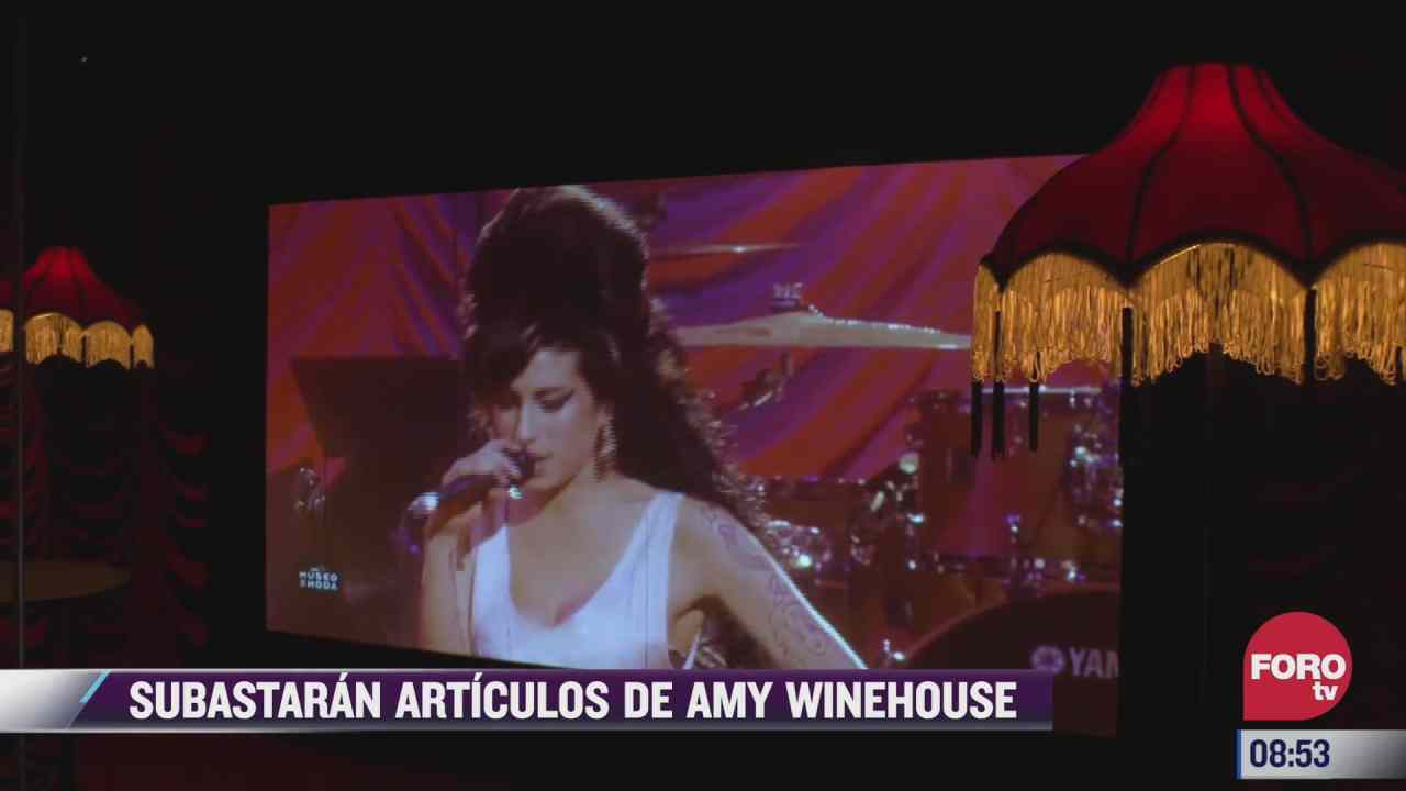 espectaculosenexpreso subastaran articulos de amy winehouse
