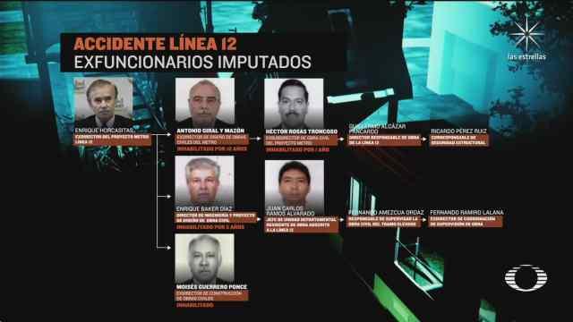 estos son los 10 exfuncionarios acusados por el colapso de la l12 del metro