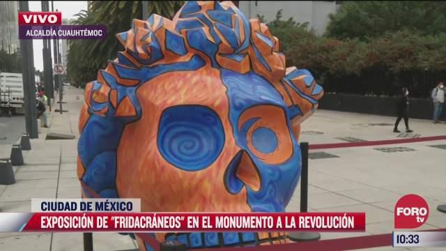 exposicion de fridacraneos en el monumento a la revolucion