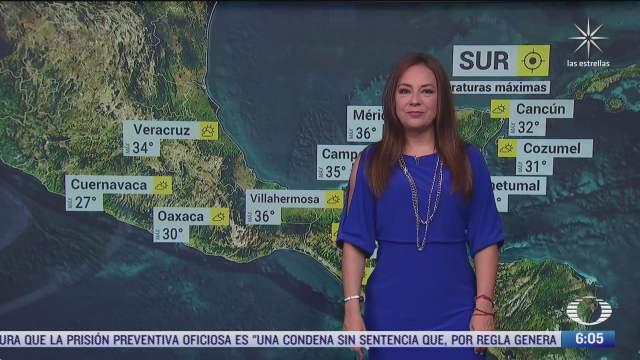 frente frio 6 provocara lluvias fuertes en mexico