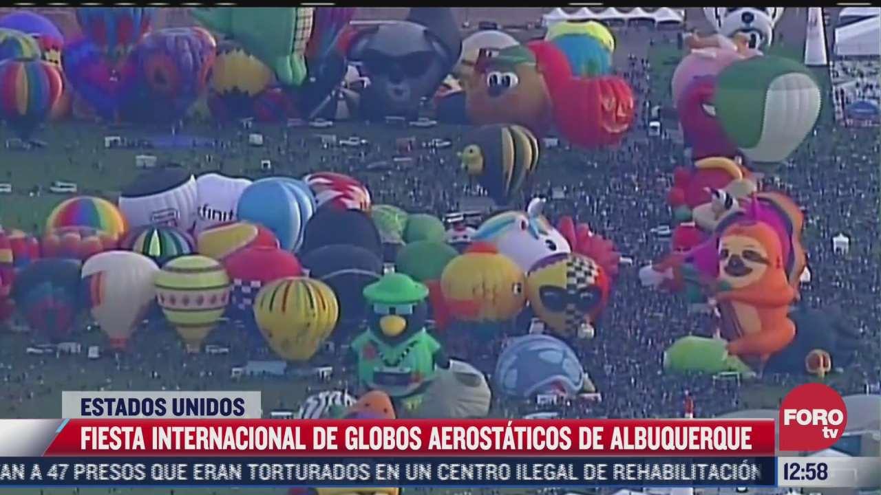 globos llenan de colores el cielo de nuevo mexico