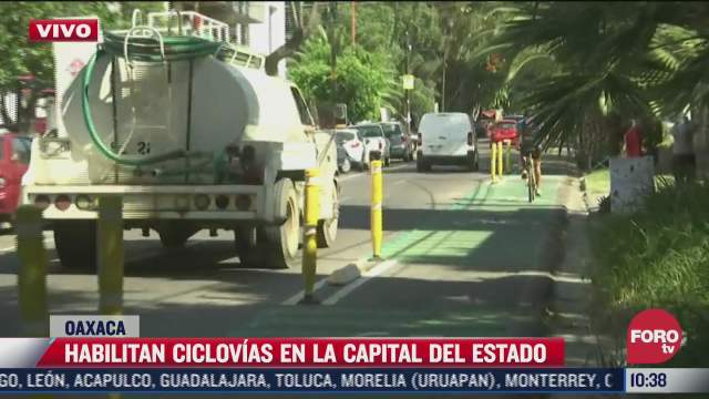 habilitan ciclovias en la capital de oaxaca