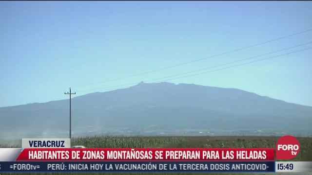habitantes de zonas montanas se preparan para las heladas