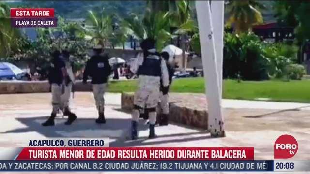 hieren a turista menor de edad durante ataque armado en acapulco