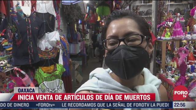 inicia venta de articulos de dia de muertos en oaxaca