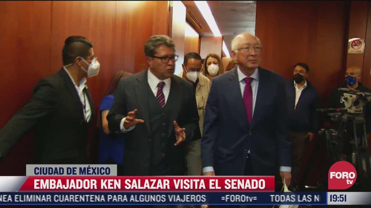 ken salazar embajador de estados unidos en mexico visito el senado de la republica