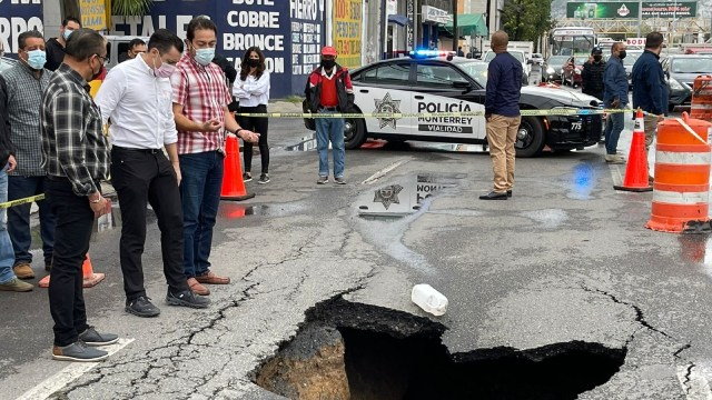 Lluvias provocan afectaciones en zona metropolitana de Monterrey.