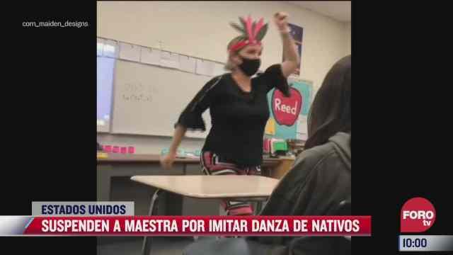 maestra es suspendida por burlarse de nativos americanos