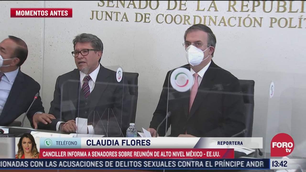 marcelo ebrard presenta al senado informe de reunion bilateral