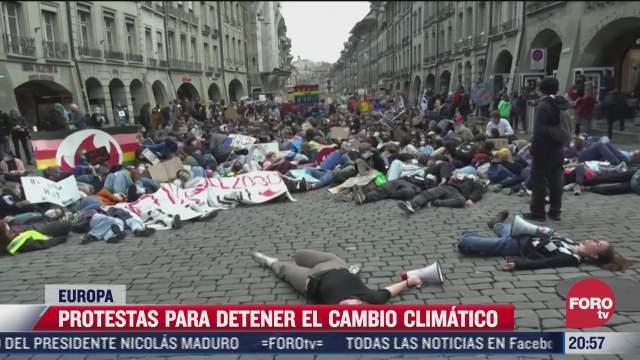 miles protestan en europa para exigir acciones contra el cambio climatico