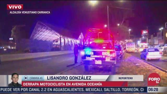 muere motociclista al derrapar en avenida central estado de mexico