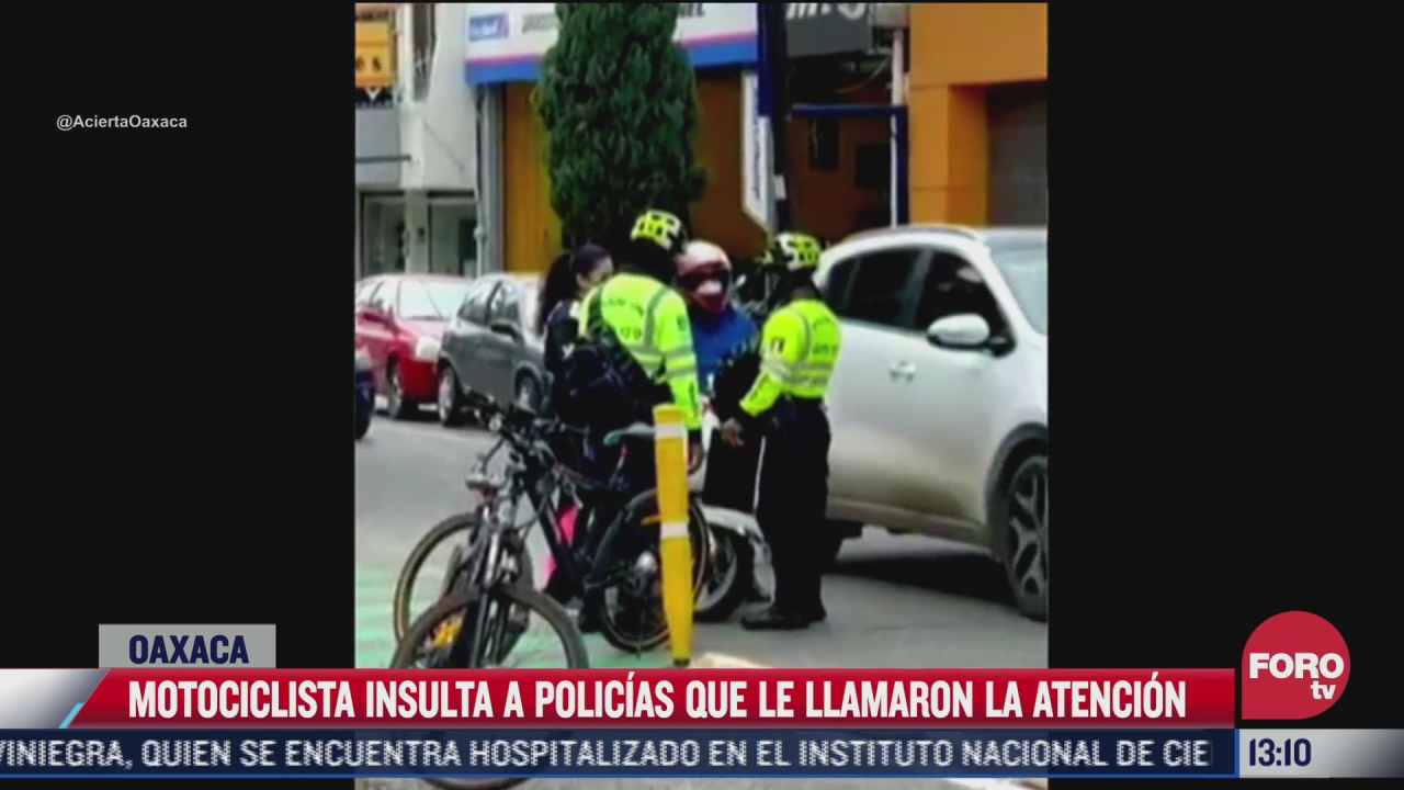 mujer motociclista insulta a policias por llamarle la atencion