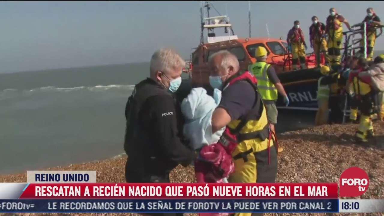 rescatan a recien nacida que paso nueve horas en el mar