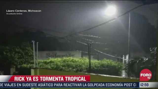 rick se degrada a tormenta tropical