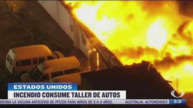 se incendia taller de autos en nueva jersey