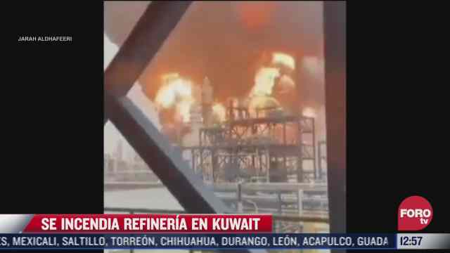 se registra incendio en refineria de kuwait