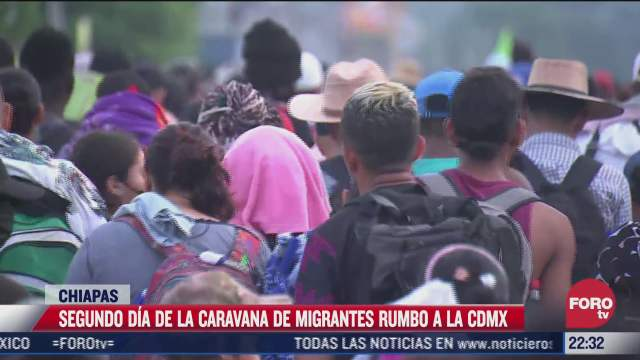 segundo dia de la caravana de migrantes rumbo a la cdmx