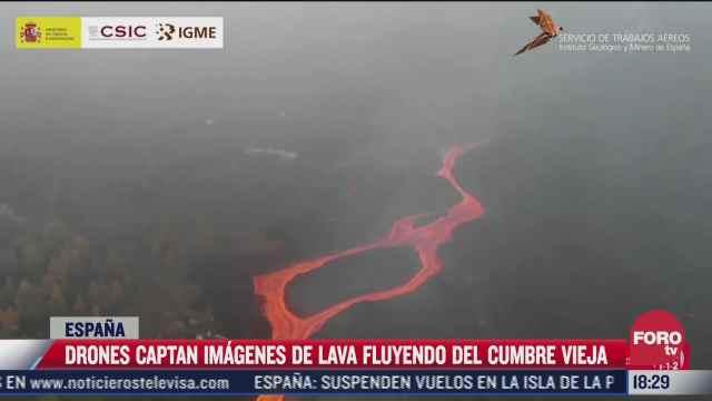 sigue actividad del volcan en la palma espana